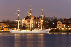vecchia nave di navigazione fotografie stock