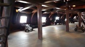 Vecchia nave di pirata interna archivi video