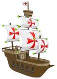 Vecchia nave - fregata o galeone Immagine Stock Libera da Diritti