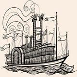 Vecchia nave a vapore royalty illustrazione gratis