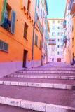 Vecchia Nizza delle scale fotografie stock