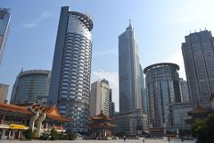 Vecchia & nuova architettura in Chongquin, Cina fotografia stock