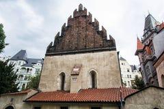 Vecchia nuova sinagoga vicino all'alta sinagoga a Praga, repubblica Ceca Fotografia Stock Libera da Diritti