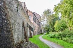 Vecchia officina di fabbricazione delle mattonelle, Shropshire, Inghilterra immagini stock libere da diritti