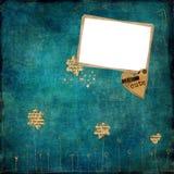 Vecchia pagina dell'album di foto Fotografia Stock Libera da Diritti