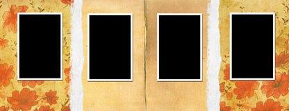 Vecchia pagina dell'album di foto Fotografie Stock
