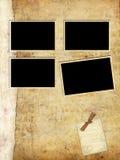 Vecchia pagina dell'album di foto Immagine Stock Libera da Diritti