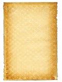 Vecchia pagina di carta su bianco Fotografia Stock