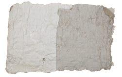 Vecchia pagina marrone su un fondo bianco Isolato Immagini Stock Libere da Diritti