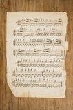 Vecchia pagina musicale. Fotografia Stock Libera da Diritti