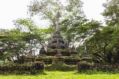 Vecchia pagoda in foresta Fotografia Stock Libera da Diritti
