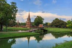 Vecchia pagoda nel parco storico di Ayutthaya, Tailandia Fotografie Stock Libere da Diritti