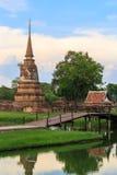 Vecchia pagoda nel parco storico di Ayutthaya, Tailandia Immagine Stock