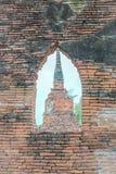Vecchia pagoda Wat Mahathat Fotografie Stock