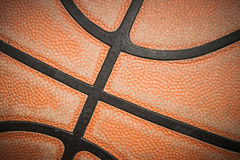 Vecchia pallacanestro Fotografia Stock