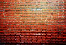 Vecchia parete arancio del fondo del mattone immagini stock libere da diritti