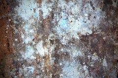 Vecchia parete arrugginita Fotografia Stock