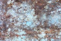 Vecchia parete arrugginita Fotografia Stock Libera da Diritti