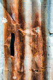 Vecchia parete arrugginita dello strato dello zinco o parete ondulata Fotografia Stock