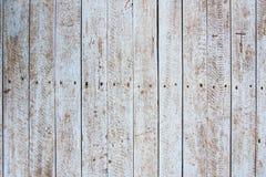 Vecchia parete bianca arrugginita della plancia del legno duro Fotografia Stock Libera da Diritti