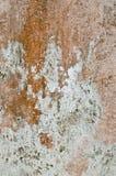Vecchia parete bianca danno e molto arrugginita Fotografie Stock