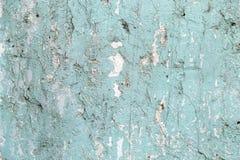 Vecchia parete blu incrinata immagini stock libere da diritti