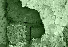 Vecchia parete con il damagedplaster Fotografia Stock Libera da Diritti