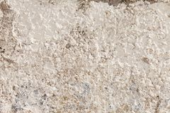 Vecchia parete concreta bianca Immagine Stock Libera da Diritti