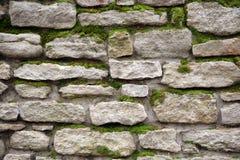Vecchia parete da una pietra Fotografie Stock Libere da Diritti
