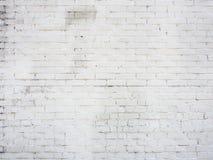 Vecchia parete dal mattone bianco Immagini Stock Libere da Diritti