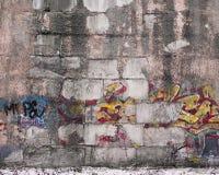 Vecchia parete dei graffiti Fotografie Stock Libere da Diritti