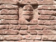 Vecchia parete del castello Fotografie Stock Libere da Diritti