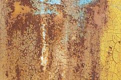 Vecchia parete del ferro Immagine Stock