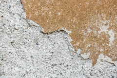 Vecchia parete del gesso del cemento di lerciume di vecchia struttura della casa Fotografia Stock