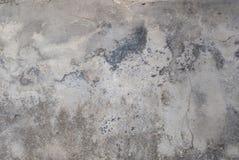 Vecchia parete del gesso, pittura scheggiata, stile del paesaggio, struttura grigia, fondo Fotografia Stock Libera da Diritti