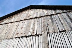 Vecchia parete del granaio fotografia stock