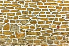 Vecchia parete del lavoro in pietra Immagine Stock Libera da Diritti