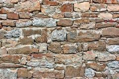 Vecchia parete del lavoro in pietra Immagini Stock