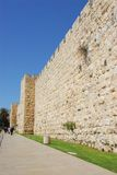 Vecchia parete della città Fotografie Stock Libere da Diritti
