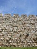 Vecchia parete della città di Gerusalemme Fotografie Stock Libere da Diritti