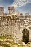 Vecchia parete della fortezza Immagini Stock