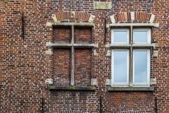 Vecchia parete della muratura in signore, Fiandre, Belgio Immagine Stock Libera da Diritti