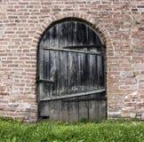 Vecchia parete della porta Immagine Stock