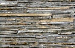 Vecchia parete delle tettoie di legno. Fotografie Stock