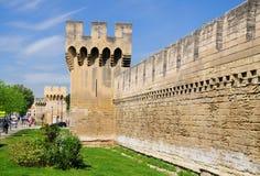 Vecchia parete di Avignone Fotografia Stock