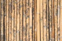 Vecchia parete di bambù Fotografie Stock Libere da Diritti