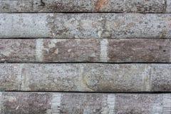 Vecchia parete di bambù Fotografie Stock