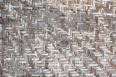 Vecchia parete di bambù Fotografia Stock
