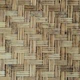 Vecchia parete di bambù del tessuto Immagine Stock Libera da Diritti