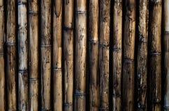 Vecchia parete di bambù per fondo Immagine Stock